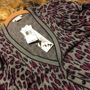 Kensie Girl tunic top jacket dress NWT L